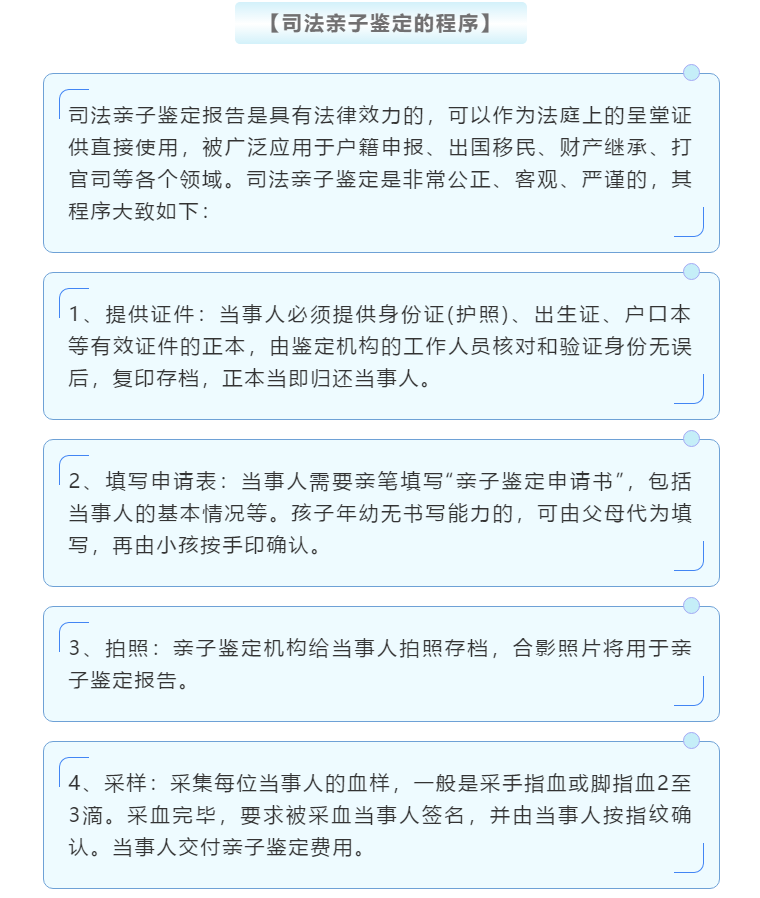 在武汉做亲子鉴定司法局是怎么规定的?