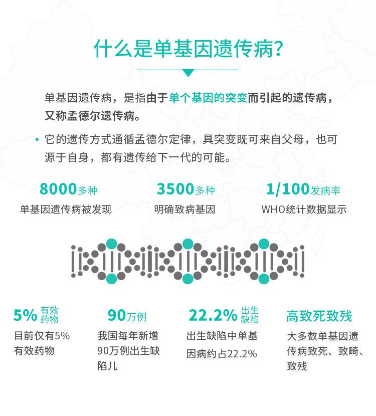 3500种单基因遗传病基因检测