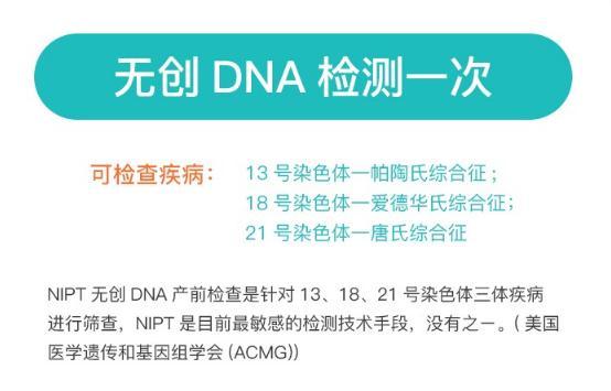 无创DNA产前检测